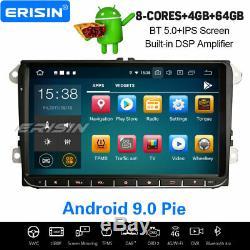 8-Core 9 Android 9.0 Autoradio Navi For VW Golf 5/6 Tiguan Passat CC Jetta EOS