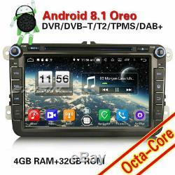 8-Core Android 8.1 GPS DAB+ Autoradio for VW Passat Golf Polo Tiguan Seat Skoda