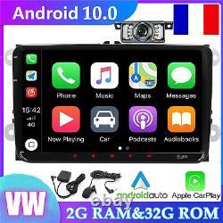 9DAB+Autoradio Android 10 Pour Passat Golf 5/6 Polo V6R Scirocco Skoda Seat GPS
