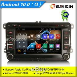 Android 10 Autoradio For VW Seat Golf Superb Yeti Touran DSP DAB+CarPlay BT 2655