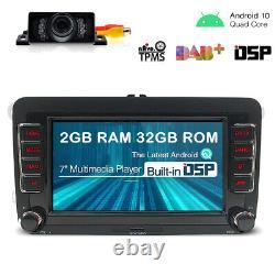 Android 10 DSP 7 Autoradio GPS Navi DAB +pour VW Polo Golf Tiguan Jetta EOS T5