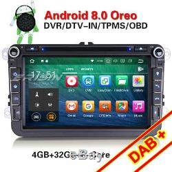 Android 8.0 Autoradio Navi CD DAB+GPS for PASSAT GOLF 5 TOURAN JETTA SKODA SEAT