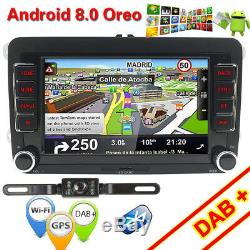 Android 8.0 DAB+GPS Autoradio For VW Bora Jetta Polo Golf Seat TRANSPORTER T5 SD