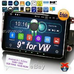Android 8.1 DAB+Autoradio For VW SEAT Skoda Golf EOS Sharan Leon Navigatore 3991