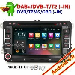 Android 9.0 Autoradio GPS For VW Golf 5 Passat Tiguan Caddy EOS Jetta Skoda Seat