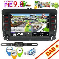 Android 9.0 Autoradio GPS Nav For VW Bora Jetta Polo Golf Seat TRANSPORTER T5 B7