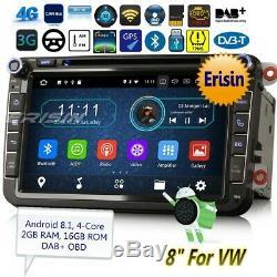 Android 9.0 DAB+Autoradio For VW Passat Golf MK5 6 Tiguan Polo Fabia 4G BT 3985F