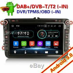 Android 9.0 DAB+Autoradio For VW Seat Skoda Golf 5 6 Tiguan Bora Fabia BT 88985