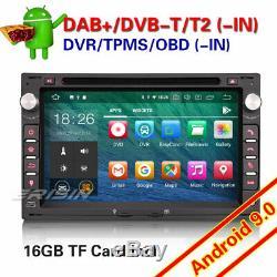 Android 9.0 DAB+ Autoradio Radio TNT pour VW Golf Passat Polo Jetta Peugeot 307