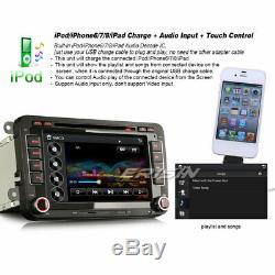 Autoradio For VW SEAT Skoda Golf EOS Sharan Leon TNT Car DVD BT Capacitive 7791
