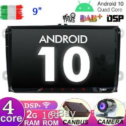 Autoradio pour VW Passat Golf Tiguan Android 10 GPS Navi Car DSP Wifi DAB USB BT