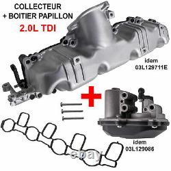 Boitier Papillon + Collecteur d'admission VW BEETLE GOLF PASSAT TIGUAN 2,0 TDI