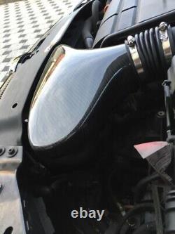 Carbone Véritable contre-Pression Admission D'Air Audi VW Golf 1.8 2.0 TFSI Gti