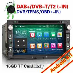 DAB+ Android 8.1 Autoradio DVD For VW Passat Jetta T5 Polo Golf Seat Peugeot 307