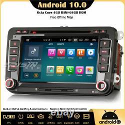 DSP Android 10 Autoradio CarPlay GPS DAB For VW Passat Golf 5 Polo Tiguan Jetta