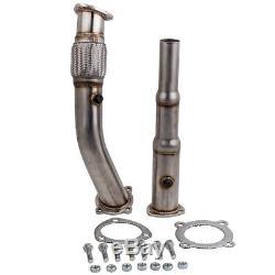 Downpipe Décatalyseur Tube Afrique INOX 3 pour VW GOLF 4 / BORA 1.8T / 1.8 GTI