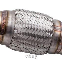 Downpipe en Acier Inoxydable 76mm for AUDI A3 TT LEON TOLEDO VW GOLF 4 BORA Neuf