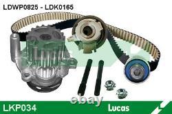 Kit de courroie de distribution avec pompe à eau LUCAS LKP034 pour POLO, GOLF