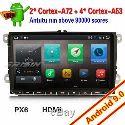 PX6 Android 9.0 PX6 Autoradio For VW Seat Golf 5 6 Skoda Altea Fabia HDMI 96291