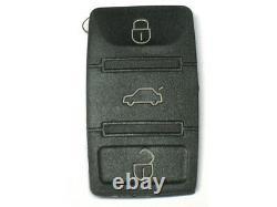 Pad bouton de clé plip télécommande 3 boutons POUR VW VOLKSWAGEN SEAT SKODA
