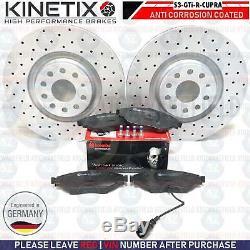 Perforé Disques de Frein avant Plaquettes Brembo Audi S3 VW Golf R Gti Seat Leon