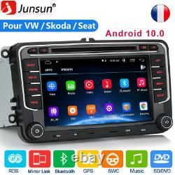Pour VW Golf 5 6 Passat EOS Skoda Seat 7Android 10.0 Autoradio GPS Navi DVD DAB