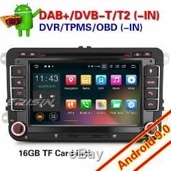 TNT Android 9.0 DAB+Autoradio For VW Seat Skoda Golf Beetle Touran Jetta BT 4848