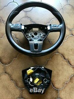 Volant cuir multifonctions VW SKODA SEAT Golf 6 Passat Polo Touran +airbag
